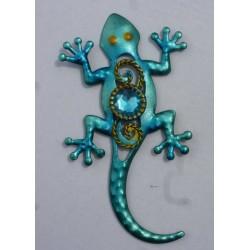 Magnet Lézard en Métal Turquoise 02