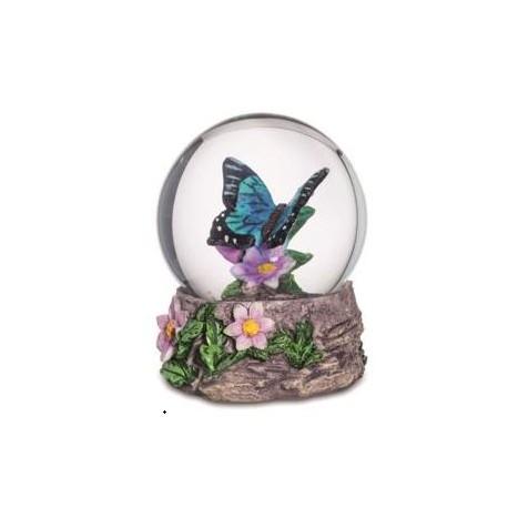 Boule de neige figurine papillon bleu turquoise marcoeagle for Objet deco bleu turquoise
