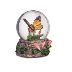 Boule de Neige Figurine Papillon Jaune Orange