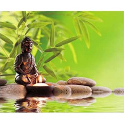 Tapis de Souris Bouddha Bambou