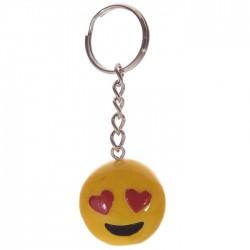 Porte-Clés Smiley Coeurs
