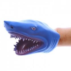 Marionnette à Mains Tête de Requin Bleu