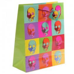 Sac Cadeau Têtes de Mort par Ted Smith    11 x 6 x 14 cm