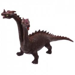 Jouet Dragon à 2 têtes (marron noir)