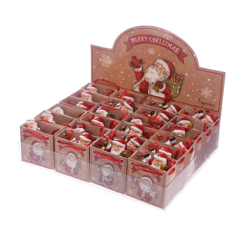 Mini figurine p re no l ski avec petit sac cadeau marcoeagle - Petit cadeau sympa pour noel ...
