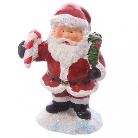 Mini figurine p re no l sucre d 39 orge avec petit sac cadeau marcoeagle - Petit pere noel figurine ...