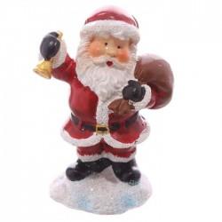 Mini Figurine Père Noël Cloche & Sac avec petit sac cadeau