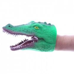 Marionnette à Mains Crocodile Vert Foncée