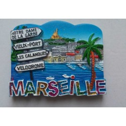 Magnet Résine Marseille Directions Palmier