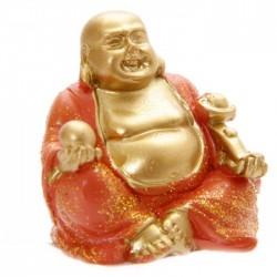 Mini Bouddha Pailleté Orange