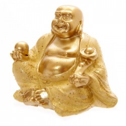 Mini Bouddha Pailleté Or