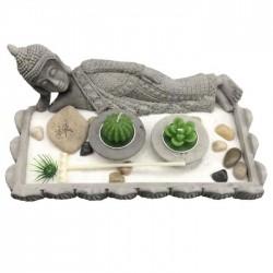 Jardin Zen Bouddha Allongé Thaï - Forme Rectangulaire
