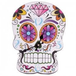 Horloge Découpée Crâne - Jour des Morts Mexicains
