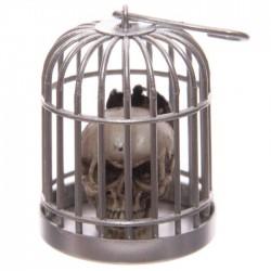 Tête de Mort Crâne en Cage (Chauve-Souris)