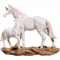 Statuette Licorne avec son BéBé