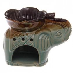 Brûleur A Huile Céramique Eléphant Bleu
