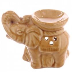 Mini Brûleur A Huile Céramique Eléphant Marron