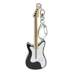 Porte-Clés Lumineux et Sonore Guitare Noire