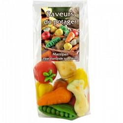 Pâte d'Amande Forme Légumes