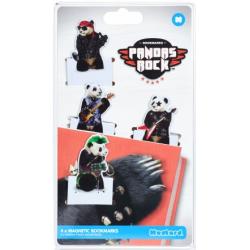 Marque Page Magnétique Pandas Rock