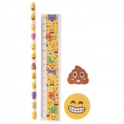 Set Papeterie Smiley Caca