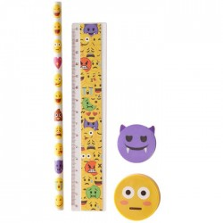 Set Papeterie Smiley Diable