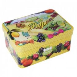 Bonbons Pulpi Fourrés Fruits Assortis Boîte Fer