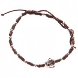 Bracelet Marron Foncé Tête de Bouddha Chinois