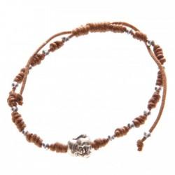 Bracelet Marron Tête de Bouddha Chinois
