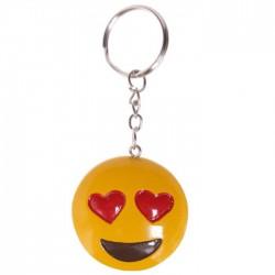 Porte-Clés Smiley Emoti Coeurs