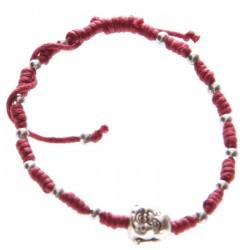 Bracelet Rouge Tête de Bouddha Chinois