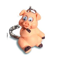 Porte-Clés Cochon Rigolo Yeux Mobiles 5
