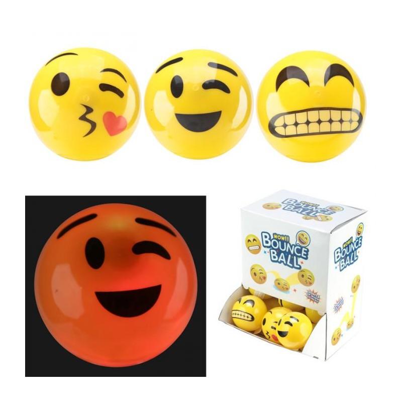 Balle Rebondissante Lumineuse Plastique Smiley Bisous Marcoeagle