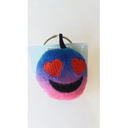 Porte-clés Moelleux Smiley Emoti Amour avec Son