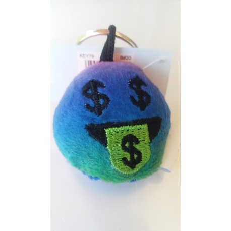 Porte-clés Moelleux Smiley Emoti Dollar avec Son