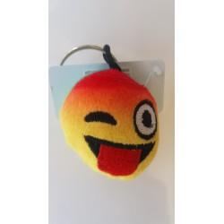 Porte-clés Moelleux Smiley Emoti Tire la Langue avec Son