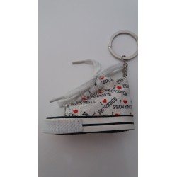 Porte-clés Chaussure Provence Blanche