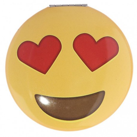 Miroir Smiley Emoti Coeurs