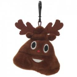 Porte-clés Moelleux Emoti Caca Noël avec Son