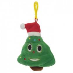 Porte-clés Moelleux Emoti Sapin Bonnet Noël avec Son