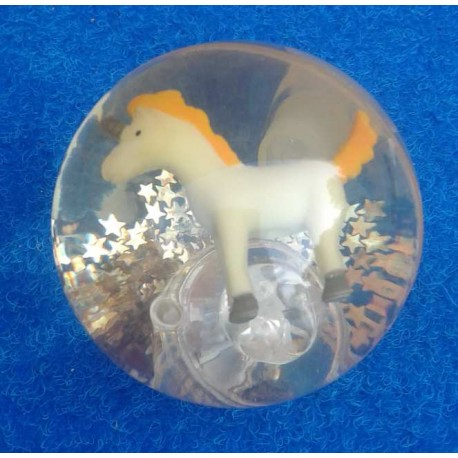 Balle Rebondissante Lumineuse Licorne (Orange)