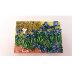 "Magnet Résine ""Iris"" Van Gogh 01"