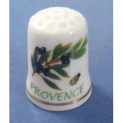 """Dé à coudre Provence """"Olivier / Cigale"""""""