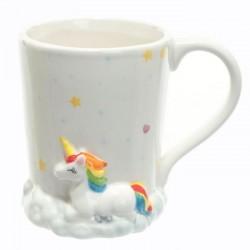 Mug Licorne Arc-en-Ciel sur Nuage