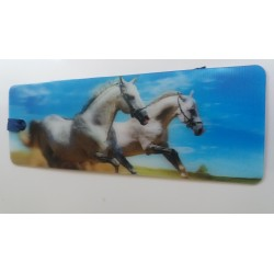 Marque Page 3D 2 Chevaux Blancs