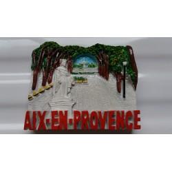 Magnet Résine Aix-en-Provence Cours Mirabeau