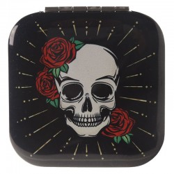 Miroir Noir Crâne + Roses