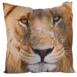 Coussin Moelleux Tête de Lion