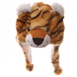 Bonnet Chapeau en Peluche Tigre