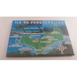 Magnet Ile de Porquerelles - Carte